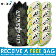 Mitre Grid 10 Rugby Ball Deal Plus FREE Bag