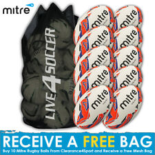 Mitre Squad 10 Rugby Ball Deal Plus FREE Bag
