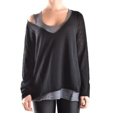 29796 TWIN-SET SIMONA BARBIERI MAGLIONE DONNA NERO WOMEN'S BLACK SWEATER