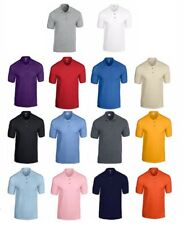3 Or 5 Pack Gildan Men's Plain DryBlend Jersey Polo Shirt Short Sleeve Adult New