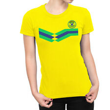 BRAZIL World Cup 2018 LADIES T-Shirt FOOTBALL New Style Retro