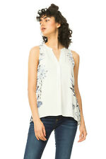 Desigual White Sleeveless Colette Blouse Grey Floral XS-XXL UK 8-18 RRP �64