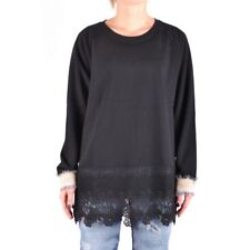 bx33215 Twin-Set Simona Barbieri felpa nero donna black woman's sweatshirt