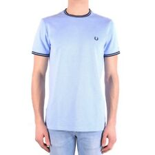 bx32401 Fred Perry t-shirt celeste uomo heavenly man's t-shirt