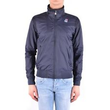 bx32296 K-Way giubbotto blu uomo blue man's jacket