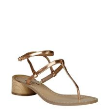 Ana Lublin femmes tongs chaussures chaussures de plage tongs doré Argent NEUF