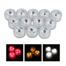 12pzs Luces de vela redonda impermeable 3 LED 3528 Lampara con RC E2O8