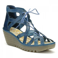 Fly London Womens Colmar Blue Yeli719fly Sandals UK Sizes [3-8]