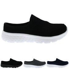 Womens Easy Slip On Sports Sneaker Mule Shock Absorbing Walking Trainers UK 3-8