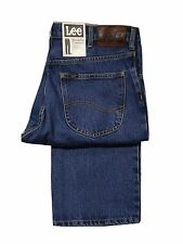 LEE BROOKLYN COMFORT FIT STRAIGHT LEG ZIP FLY JEAN - DARK STONEWASH BLUE