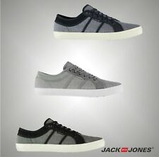 Mens Branded Jack And Jones Coloured Canvas Ross Trainers Footwear Size 7-11