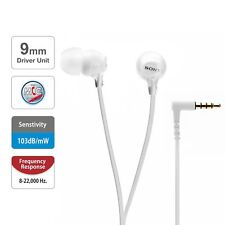 Sony MDR-EX15AP In-Ear Stereo Headphones with Mic (White) Refurbished Open Box