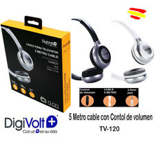 Cascos Auriculares TV DIGIVOLT 5 MTS de Cable TV-120 control volumen super BASS