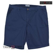 MAXFORT. PLUS SIZE PANTS SHORT MAN NILS BLUE
