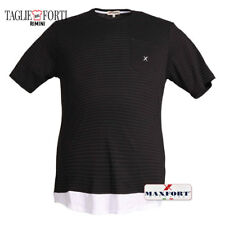 MAXFORT. PLUS SIZE MEN. T-SHIRT 25810 BLACK