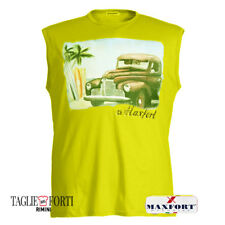 MAXFORT. T-SHIRT SLEEVELESS  PLUS SIZE MEN 25556 YELLOW