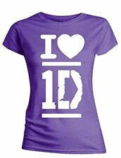 ONE DIRECTION T-Shirt Ladies I Love 1D OFFICIAL MERCHANDISE