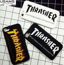 "COVER Custodia RIGIDA Sottile Slim MORBIDA con logo ""THRASHER"" Per iPHONE"