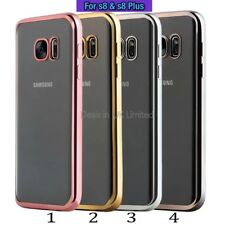 New Samsung Galaxy s8 & s8 Plus Case TPU Shockproof Chrome Gel Clear Cover Pro