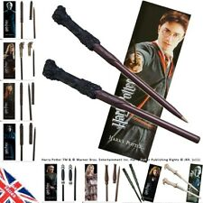 GENUINE Harry Potter Wand Pen Bookmark Gift Set Collection Hermione Dumbledore