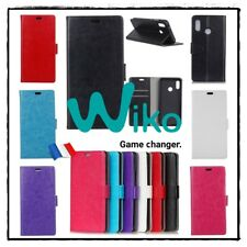 Etui housse coque porte cartes Cuir PU Leather Stand Wallet Case WIKO View 2 Pro