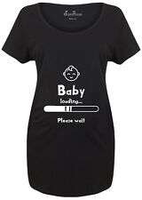 Maternity T shirts Pregnancy Shirts Tunic T-shirt Tops Baby Loading Please Wait