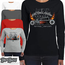 Mujer HOTROD 58 Ropa Camiseta manga larga Shifters Speed Shop ROCKABILLY 56