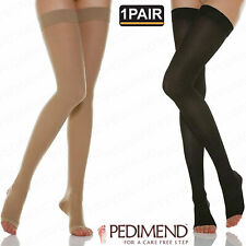 PEDIMEND™ Compression Thigh Highs Open Toe Stockings (1PAIR) - Foot Care