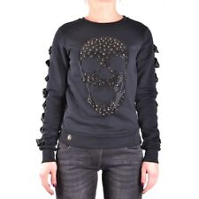 bx33553 Philipp Plein felpa nero donna woman's black sweatshirt