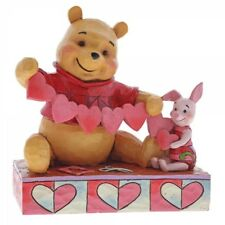 NEW Handmade Valentines Figurine (Winnie the Pooh & Piglet) - Disney Traditions