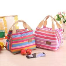 Insulated Lunch Bag Thermal Stripe Cooler Bags Travel Picnic Food Lunch box bag