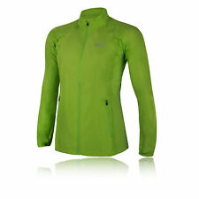 Asics Womens Woven Running Jacket Top Long Sleeve Casual Clothing Green