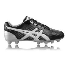 Asics Jet St Homme Noir Argent Crampons Baskets Rugby Sport Chaussures Sneakers