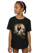 Star Wars Fille The Last Jedi Porgs Brushed T-Shirt