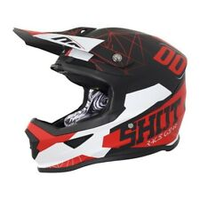 SHOT Casque Cross Furious Spectre Noir Rouge Mat