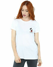 Disney Mujer Mickey Mouse Kickin Retro Pocket Camiseta Del Novio Fit