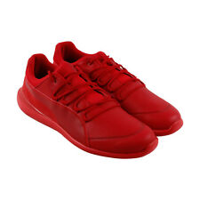 Puma Sf Evo Cat Mens Red Leather Lace Up Sneakers Shoes