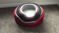 Oval Dog Bed. Dog,puppy,kitten,cat pet bed. 6 sizes 5 colours