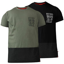 D555 Mens Cut And Sew T-Shirt With Chest Embroidery (EMERSON)