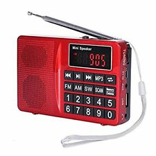 AM FM MW SW Radio portatile Media digitali Boombox altoparlante Lettore