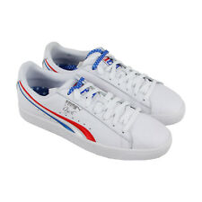 Puma Clyde 4Th Of July Mens White Leather Lace Up Sneakers Shoes