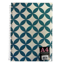 A4 Spiral Hardback Notebook - 2 Designs, Geometric and Lists & Jobs - 200 Pages