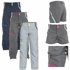 Trespass Defender Kids Walking Trousers Convertible Zip Off Shorts