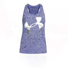 Under Armour Womens Tech Graphic Twist Tank Top Purple Sports Gym Breathable