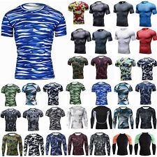 Maglia Compressione Uomo Livello Base Skins Calze Workout SOTTO T-SHIRT TEE Gym