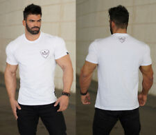 Men's fitness sports casual T-shirt short-sleeved summer T- shirts casual cotton