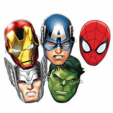 Official Marvel Spiderman Iron Man Hulk Thor Avengers Super Hero Party Card Mask