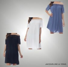 Ladies Jacqueline De Yong Summer Off The Shoulder Short Sleeve Dress Size 8-14