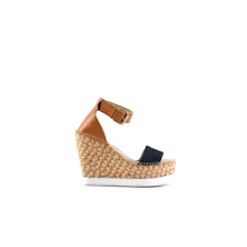 Colors Of California Jute Wedge Ankle Lace In Leath Sandali Donna JWEDGE012 DEN