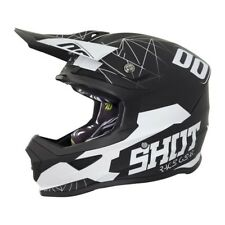 SHOT Casque Cross Furious Spectre Noir Blanc Mat